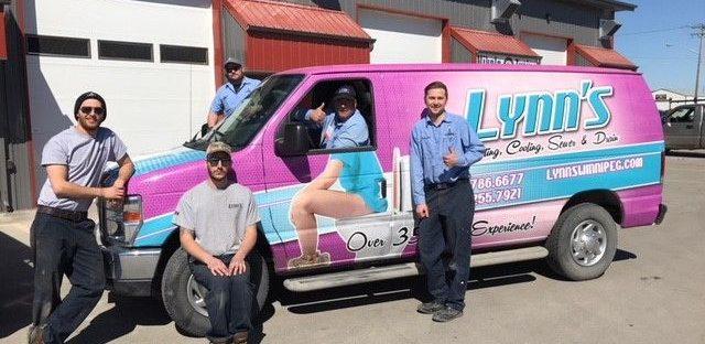 lynns hvac winnipeg truck